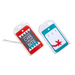LUGTAGKIT Clear Vinyl Luggage Tag and 6