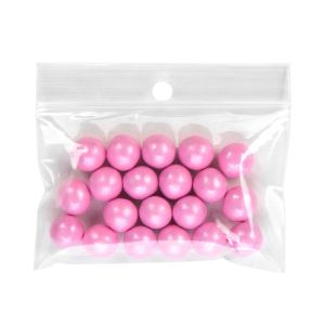 "ZR32 2 Mil Crystal Clear Zip Bags – 3"" x 2"" (Round Hang Hole)"